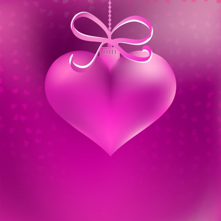 Christmas heart shaped pink bauble     EPS8 Stock Vector - 17525637