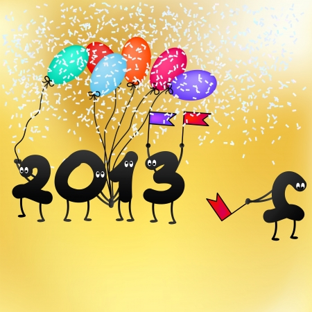Funny 2013 New Year s Eve greeting card    EPS8 Stock Vector - 17525640