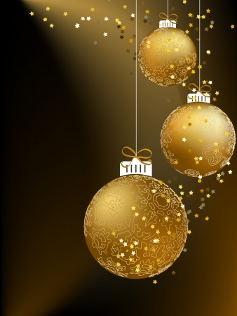 Christmas ball made from a golden snowflakes     EPS8 Stock Vector - 17525657