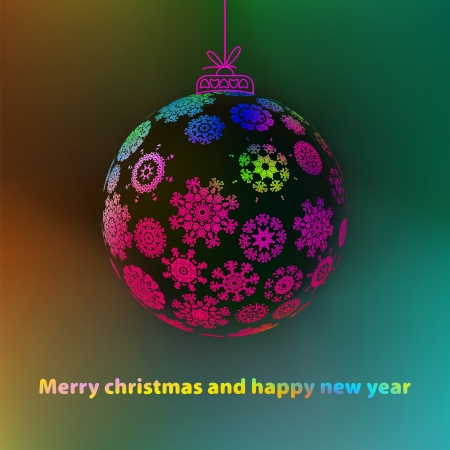Christmas ball made from snowflakes    EPS8 Stock Vector - 17525740
