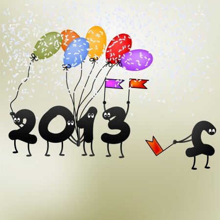 Funny 2013 New Year s Eve greeting card    EPS8 Stock Vector - 17525639