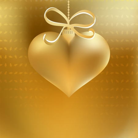 Golden christmas heart decoration     EPS8 Stock Vector - 17525651