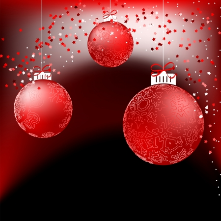 Red baubles on bright background     EPS8 Stock Vector - 17524326