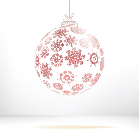 Christmas ball made from snowflakes    EPS8 Stock Vector - 17525754
