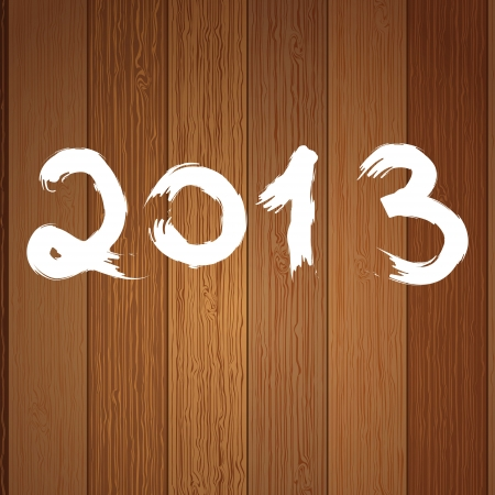 2013 year white on wood     EPS8 photo