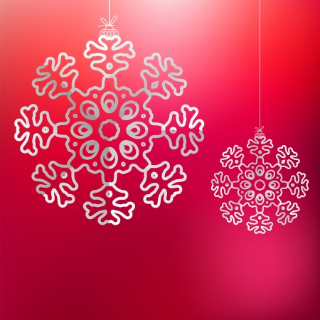 Christmas snowflake on red purple     EPS8 Stock Vector - 17525635