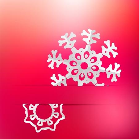 Christmas snowflake on red purple     EPS8 Stock Vector - 17525634