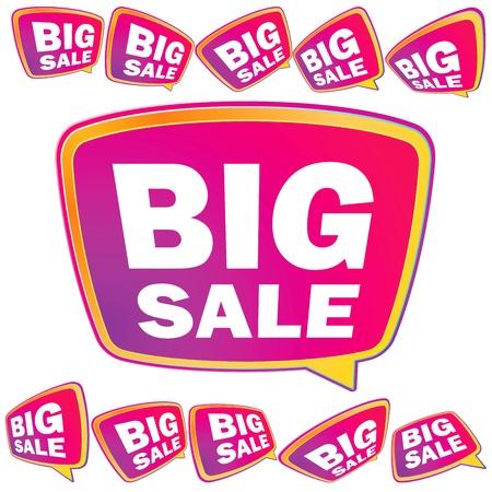 3D big Sale tags     EPS8 Illustration