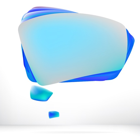 Abstract speech bubble background     EPS8