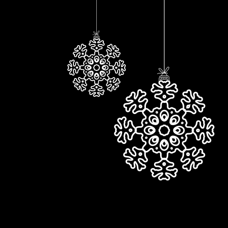 Black and white christmas ball     EPS8 Stock Vector - 17525627