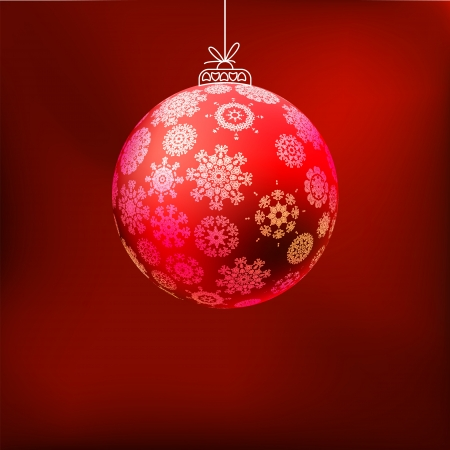 Christmas background with red ball  EPS 8 Stock Vector - 17525744