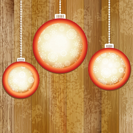 Christmas balls with place for copyspace     EPS8 Stock Vector - 17525743