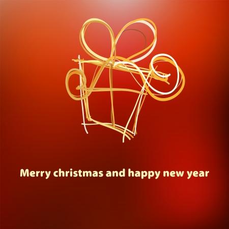 Christmas card template design     EPS8 Stock Vector - 17525611