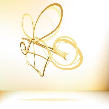 Christmas card  Gift box with ribbon     EPS8 Stock Vector - 17524336