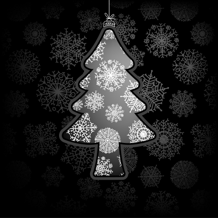 Christmas card with tree     EPS8 Stock Vector - 17525702