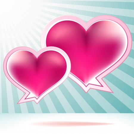 Heart shaped vector bubbles    EPS8 Vector