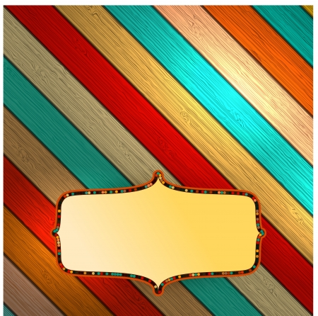 Colorful wooden with copyspace Stock Vector - 18549605