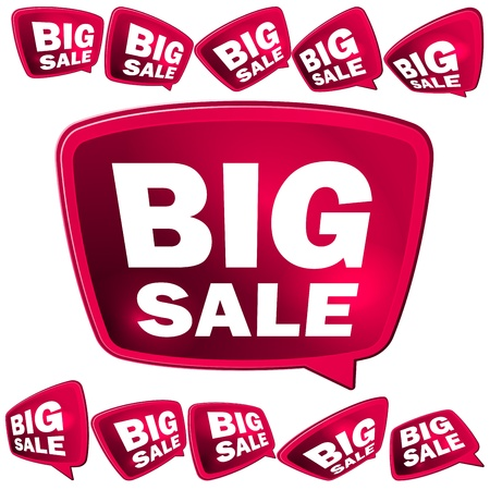 3D big Sale tags    EPS10 Illustration