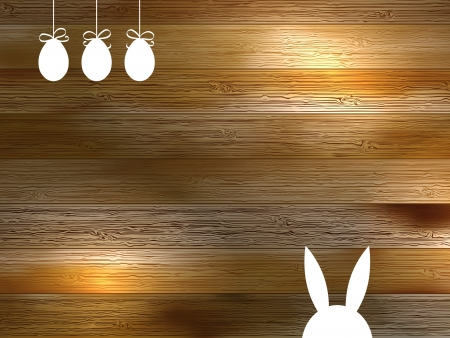 Brown background with copy space on wood     EPS8 Vector