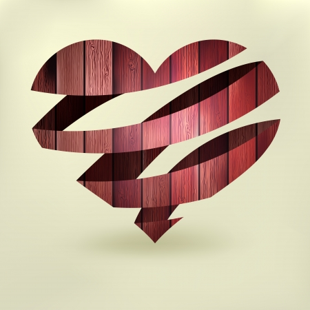 Heart in wood abstract Stock Vector - 19264221