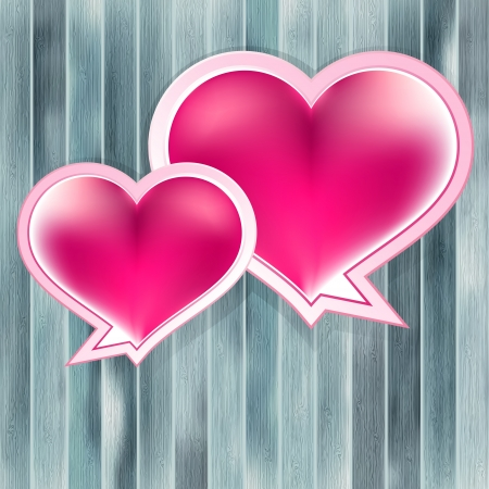 Valentines Day background with heart    EPS10