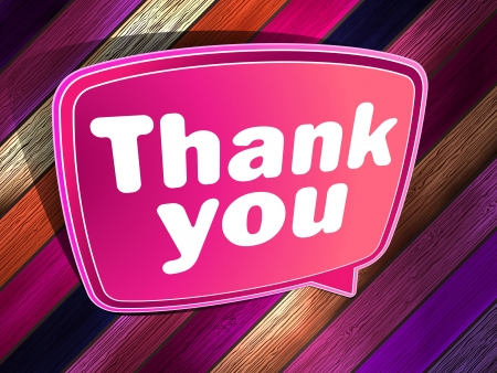 Thank you poster on a wooden  EPS 10 Stock Vector - 19482037
