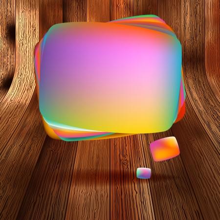 Colorful wooden bubble speech  EPS 10 Vector