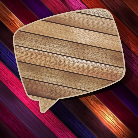 Colorful wooden bubble speech  EPS 10 Vector