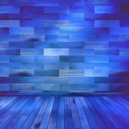hometown: Old blue wooden interior room  EPS 10