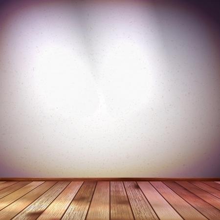 Wand met een spot verlichting Stock Illustratie