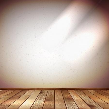 Light wall with a spot illumination