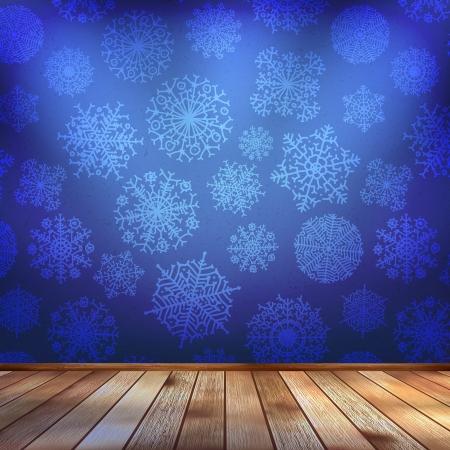 Frozen interior, christmas background Vector