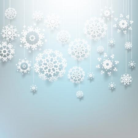 Christmas design with decorative snowflakes Illustration