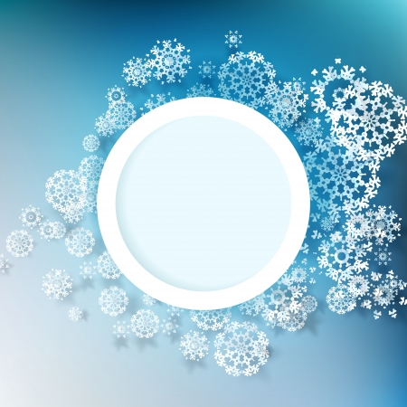 Abstract winter design with snowflakes Illustration