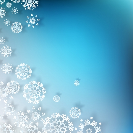 Blue Christmas background with white snowflakes Stock Vector - 20597521
