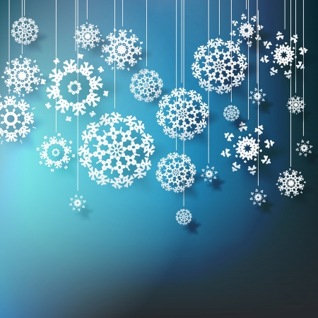 high definition: High definition snowflakes on blue background