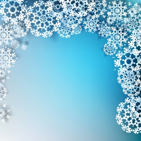 Elegant Christmas background with snowflakes and place for text. Stock Vector - 20782649