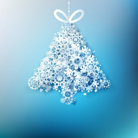 Christmas tree  made from paper snowflakes.  Stock Vector - 20782924