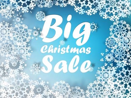 Christmas sale background Illustration