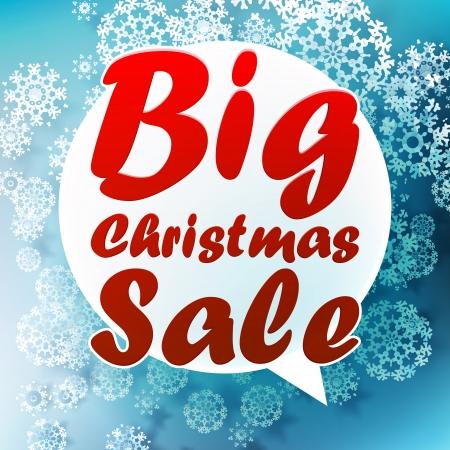 Christmas Big sale template.
