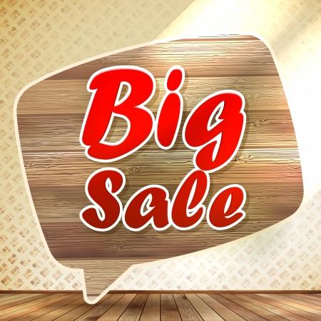 Big sale speech bubble.