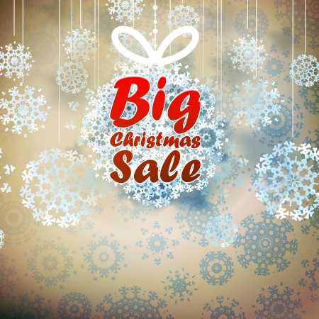 Christmas Big Sale template with copy space.  Vector