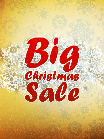 Christmas retro Big Sale template with copy space.