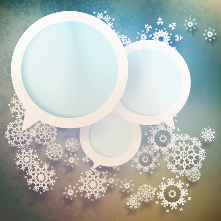 Abstract winter design with snowflakes. EPS 10 vector