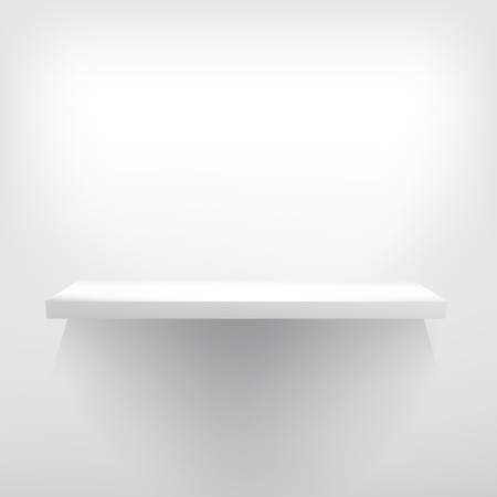 Detailed illustration of white shelve with light from the top. + EPS10 vector file Illustration