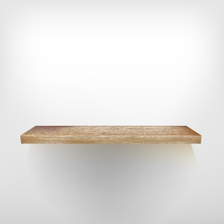 empty shelf: Isolated Empty shelf for exhibit. + EPS10 vector file