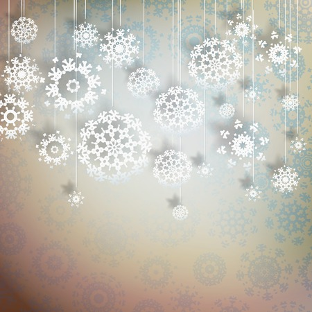 High definition snowflakes on beidge background. EPS 10 vector