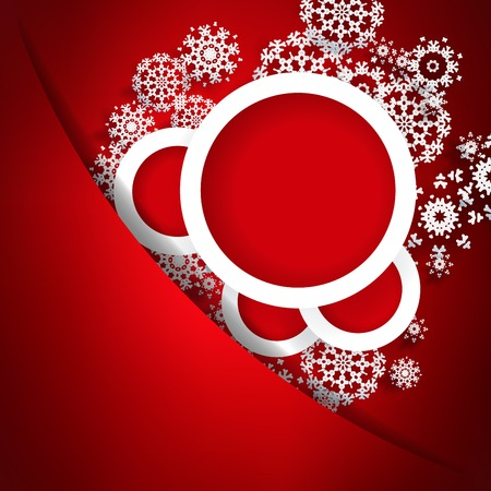Red christmas card with snowflakes. + EPS10 vector file Vector