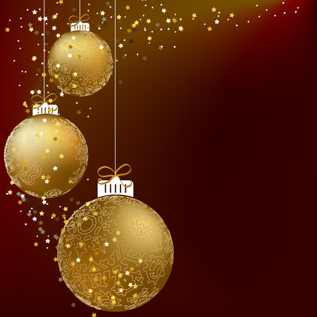 Christmas ball made from a golden snowflakes. + EPS10 vector file Vector