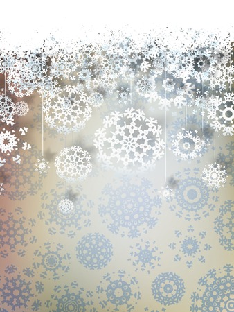 high definition: High definition snowflakes on beidge background. EPS 10 vector